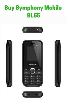 """Symphony Mobile - BL55 (Black)  Description: Dual SIM: Yes Memory: 32 Mb Flash +24 Mb Memory Card Slot: MicroSD card slot Expandable up to 8GB Bluetooth: Yes USB: Yes Status: Available Display: 1.77"""" TFT QCIF(176*144) Talk Time: 8 Hours Stand By: 288 Hours Other Features: 1800 mAh Li-ion Battery, Audio, video & call recorder, Blacklist, Torchlight Bangla Language Support: Yes"""