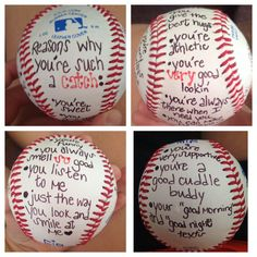 Baseball craft for my love. cute idea for baseball season. Or way to tell him youre going to a game for date!