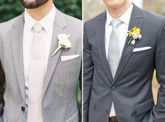 7 combinações com terno cinza para o noivo - Constance Zahn | Casamentos