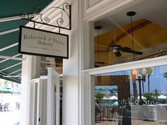 Babcock & Story Bakery - Store Front, via Flickr. Bakery Store, Bakery Branding, Salon Signs, Building Renovation, Hotel Del Coronado, Store Fronts, Retail Design, Store Design, Interior Design