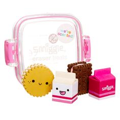 Image for Eraser Mini Pack Cookie from Smiggle UK Japanese School Supplies, Cool School Supplies, Eraser Collection, Cool Erasers, School Suplies, Cute Stationary, Cute Pens, School Accessories, Kawaii Room