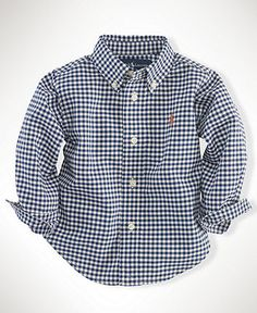 TOMMY- infant Ralph Lauren  Ralph Lauren Baby Shirt, Baby Boys Gingham Blake Shirt - Kids Baby Boy (0-24 months) - Macy's
