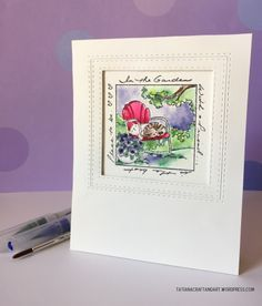 Tatiana Craft and Art: Art Impressions stamp; watercolor card;. Simon Says Stamp FAVE dies.