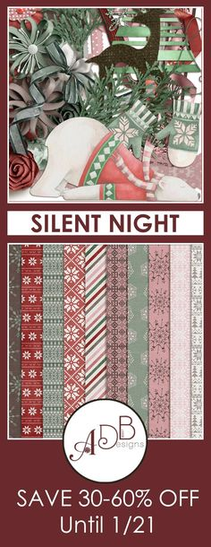 Silent Night is a unique collection designed to scrap your favorite holiday & winter photos. #ADBDesigns #digitalscrapbooking #SilentNight  https://adb-designs.com/shop/index.php?main_page=advanced_search_result&search_in_description=1&keyword=ADB-silent-night
