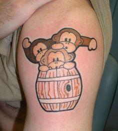 three lil monkey tatoos | ... tattoo. Would be perfect on my foot for my nephews. They are my three