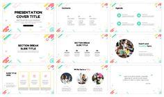 Fun creativity education Free Google Slides Theme PowerPoint Template Powerpoint Design Templates, Presentation Templates, Diagram Chart, Great Presentations, Geometric Lines, Abstract Shapes, Corporate Design, Accent Colors, Lorem Ipsum