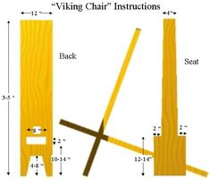 1000 images about viking chair on pinterest vikings for Viking chair design