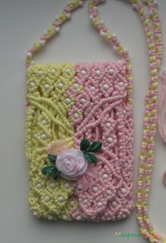 "Macrame handbag ""Rose"" (pattern photo tutorial in russian)"