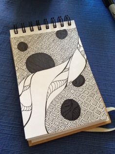 Other World Moonrise doodle drawing sharpie art by Heidi Denney