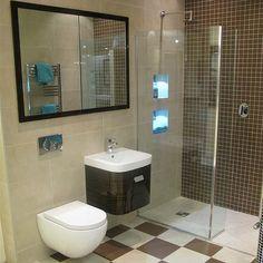 HU Showroom Suite Brown and Beige Wet Room