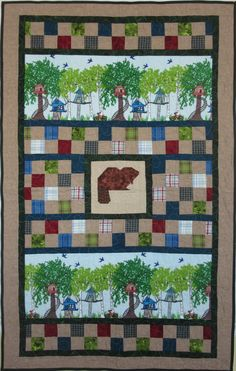 Handmade Patchwork Quilt For Kids Treehouse
