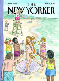 "Read about this week's cover, ""Venus on the Beach,"" by Roz Chast: http://nyr.kr/1qGJXak"