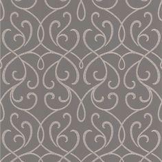 Alouette Grey Mod Swirl   Wallpaper Warehouse