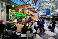 From beautiful hotels to an airport bar and restaurant you'll actually enjoy, we have gathered our favorites in business travel. Great American Bagel, Wine Glass Chandelier, Garrett Popcorn Shops, Thai Iced Coffee, Chicago Airport, O'hare International Airport, Airport Food, Pizza Express