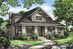Cute little bungalow w/ house plans. Home Plans - Square Feet, 3 Bedroom 2 Bathroom Bungalow Home with 2 Garage Bays.interesting and efficient plan Craftsman Bungalow Exterior, Craftsman Floor Plans, Bungalow Floor Plans, Craftsman Style Homes, Craftsman Bungalows, House Floor Plans, Craftsman Cottage, Craftsman Kitchen, Cottage House