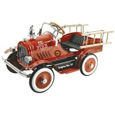 Gorgeous fire truck at Jolly Tots & Cookies. Children will have a ball playing on this great, traditional pedal car.