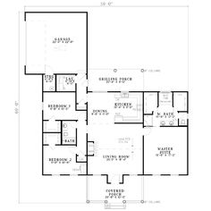 Country 3 Beds 2 Baths 1683 Sq/Ft Plan #17-533 Main Floor Plan - Houseplans.com