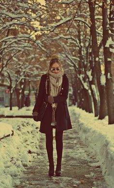 Love this! Shows that you can still be fashionable, even when it's freezing out there