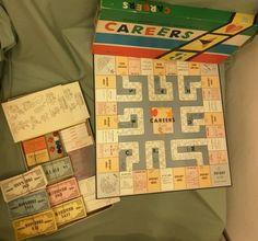"""VINTAGE """"CAREERS"""" board game 1958"""