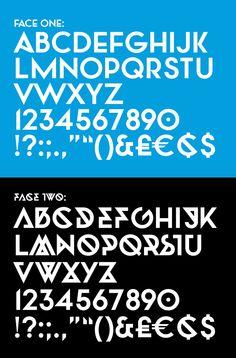 Twofaced Display Type by Jonathan Martin, via Behance