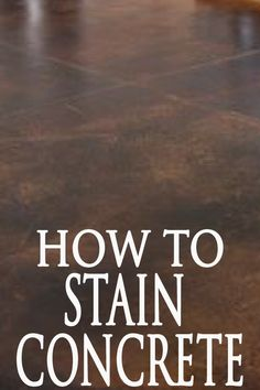 Learn how to stain your concrete patio, interior or exterior flooring correctly with these helpful steps.