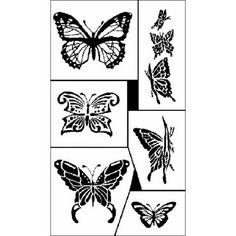 "Butterflies Rub 'n' Etch Glass Etching Stencils 5""X8"" 1/Pkg 20R-0151"