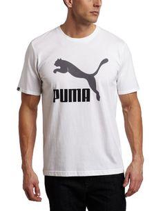 Puma Apparel Men's Vintage No 1 Logo Tee, White/Black/Steel Grey, Medium