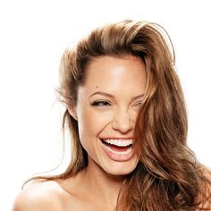 Gorgeous Couture // Angelina Jolie smiling <3
