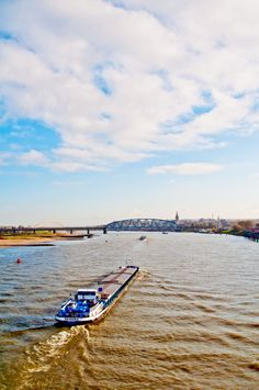 The River Waal at the City of Nijmegen