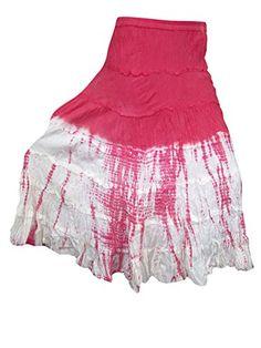 Women's Beach Skirt Double Tone Pink White Tiedye hippe c... https://www.amazon.com/dp/B01NCX0T1F/ref=cm_sw_r_pi_dp_x_ppOIybC24C68F