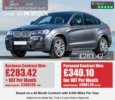Car Lease Special Offers are leasing & contract hire experts helping personal and business users find the cheapest and best leasing deals and offers in the UK. Lease Specials, Bmw X4, Diesel, December, Business, Car, Sports, Diesel Fuel, Automobile