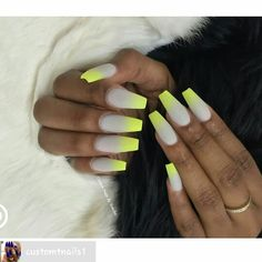 Custom nails done for a wedding yellow and gray ombré done by Ms. Temeka at enamel diction