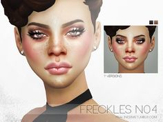 Freckles N04 by Pralinesims at TSR via Sims 4 Updates