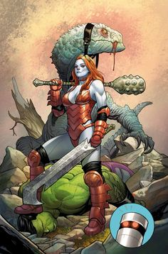 The Totally Awesome Hulk #2 - Lady Hellbender by Frank Cho