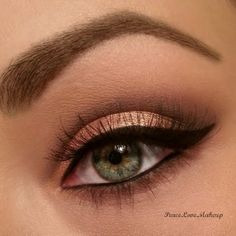 Everyday Neutrals by Frances S: rose gold and black eye makeup