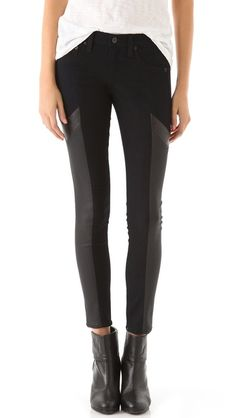 Ah why do I have to be jobless when I find the perfect motocross pants!?  Rag & Bone/JEAN, Grand Prix Motocross Legging Jeans, $253.