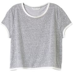Victoria's Secret Boxy Crop Tee ($18) ❤ liked on Polyvore featuring tops, t-shirts, shirts, crop tops, crew neck shirt, crop top, boxy t shirt, lightweight t shirts and crewneck t shirt