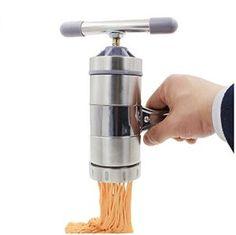 Virtuous * DIY Kitchen Stainless Steel Manual Noodle Press Pasta Maker, Fruits,vegetables ,Citrus Juicer with 5 Noodle Mould (Silver) Kitchen Helper, Diy Kitchen, Vegetable Juicer, Noodle Maker, Citrus Juicer, Pasta Machine, Pasta Maker, Kitchen Tools And Gadgets, Cool Kitchens