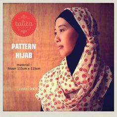 Fruity White - square #hijab