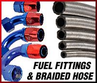 AN fuel fittings and braided hose
