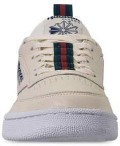 3a66778b17ff Reebok Men s Club C 85 Mu Casual Sneakers from Finish Line - CHALK NAVY  GREEN RED 12