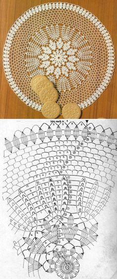 Round crocheted doily...♥ Deniz ♥