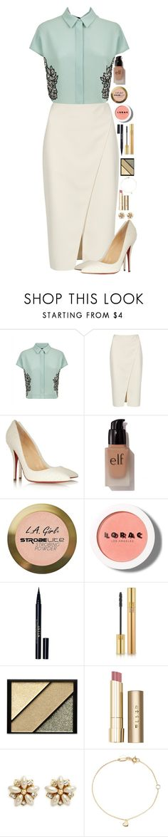 """""""Cocktail"""" by macapaz ❤ liked on Polyvore featuring Jaeger, Acne Studios, Balmain, e.l.f., Charlotte Russe, LORAC, Stila, Yves Saint Laurent, Elizabeth Arden and Miriam Haskell"""