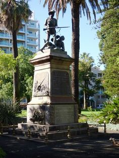 The South African War Memorial, Kings Park, Perth today. It  was the first war memorial erected in the Park, and commemorates Western Australian soldiers killed in the Boer War (1899-1902). The new memorial statue was unveiled on the monument by the Governor of Western Australia , His Excellency Sir Harry Barron, on the 23rd May 1915. The statue of solid hammered copper was made locally by Messrs Wunderlich and Co and cost £450.