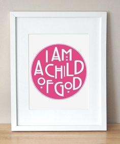 """child of god"" print."