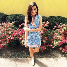 @Danielle Lampert Lampert Johnston vines dress for a sunny day