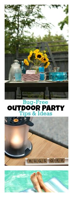 Enjoy these outdoor party ideas and tips for bug-free summer fun and entertaining in your backyard with family and friends! #ad ReluctantEntertainer.com #LaborDay