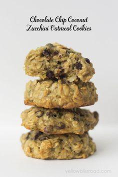 Chocolate Chip Coconut Zucchini Oatmeal Cookies