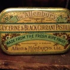 Old vintage tin ~ Allenburys pastilles