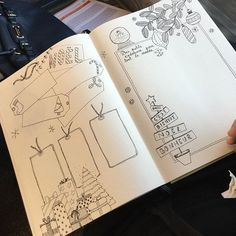 Page Noël Bullet Journal - Christmas gifts ideas list bullet journal - Bujo